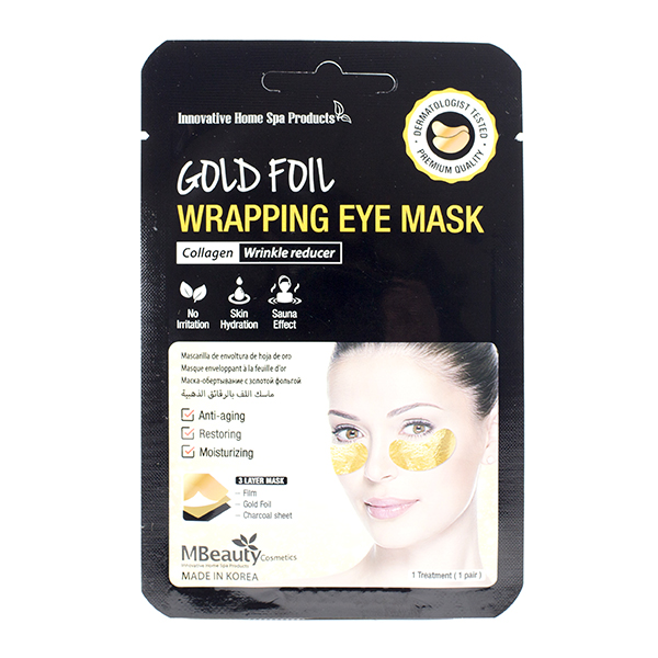 Фото  MBeauty Gold Foil Wrapping Eye Mask, 1pair