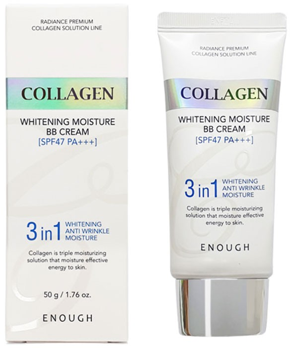 Фото  ENOUGH ББ-крем с морским коллагеном Collagen 3 in1 Whitening Moisture BB Сream SPF47 PA+++
