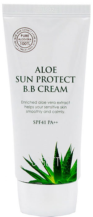 Фото  JIGOTT ВВ-крем с экстрактом алоэ Aloe Sun Protect BB Cream Spf41 Pa++