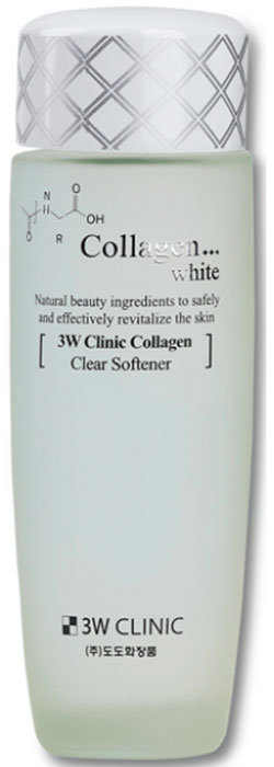 Фото  3W CLINIC Восстанавливающий софтнер для лица с коллагеном Collagen White Clear Softener