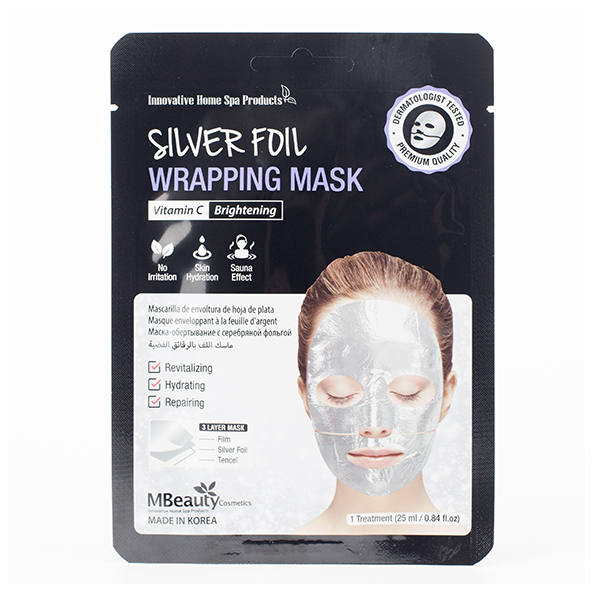 Фото  MBeauty Silver Foil Wrapping Mask, 25ml