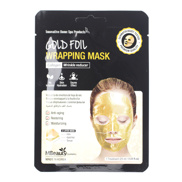 Фото  MBeauty Gold Foil Wrapping Mask, 25ml