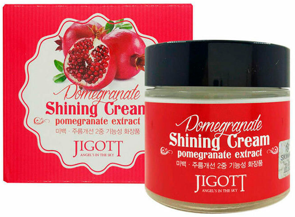 Фото  JIGOTT Крем с экстрактом граната для яркости кожи Pomegranate Shining Cream