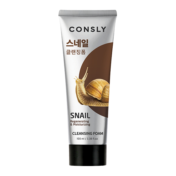 Фото  Consly Snail Mucus Regenerating Creamy Cleansing Foam, 100ml