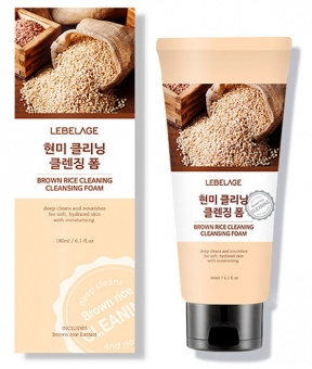 LEBELAGE Brown Rice Cleaning Cleansing Foam, 180ml