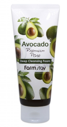 FarmStay Очищающая пенка с экстрактом авокадо Avocado Premium Pore Deep Cleansing Foam