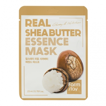 FarmStay Тканевая маска для лица с маслом ши Real Shea Butter Essence Mask