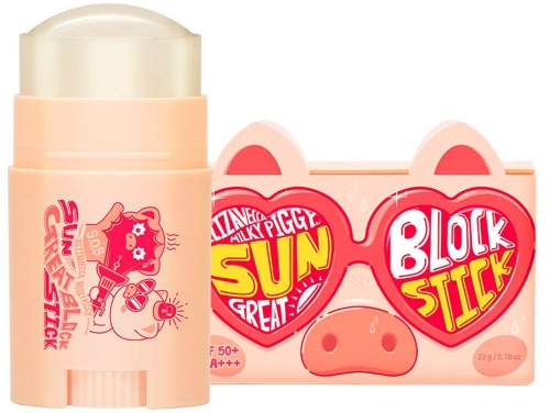 Elizavecca Солнцезащитный стик Milky Piggy Sun Great Block Stick SPF50+PA+++