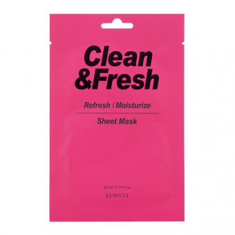 EUNYUL Clean&Fresh Refresh/Moistuize Sheet Mask, 22ml